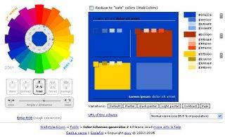 ColorBlender - paleta de colores on-line