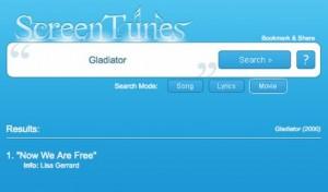ScreenTunes: Buscador de música de películas