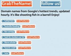 GrabTheName: Registra el dominio del término más popular