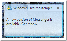 Windows Live Messenger: Actualiza o muere...