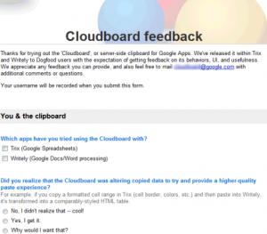 Filtrado Google CloudBoard: Portapapeles online