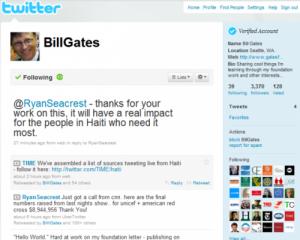 Bill Gates tiene cuenta en Twitter
