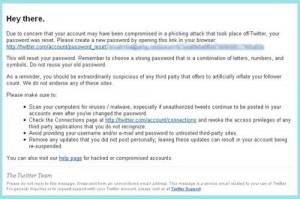 Ataque de phising a usuarios de Twitter