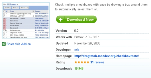 CheckBoxMate: marcador de múltiples casillas