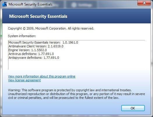 Actualización para Microsoft Security Essentials