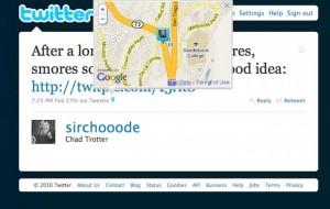 Twitter: Geolocalización y hovercards