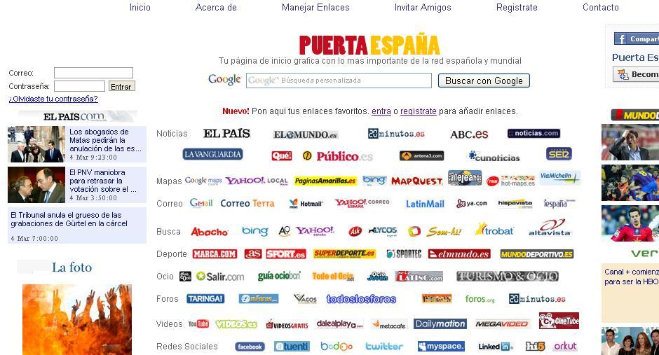 Puerta España: Tu portal de acceso a Internet