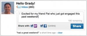 Actualizaciones de estado de Faceboos desde Yahoo! Mail