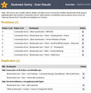 Bookmark Sentry: Extensión para Google Chrome de mantenimiento de marcadores