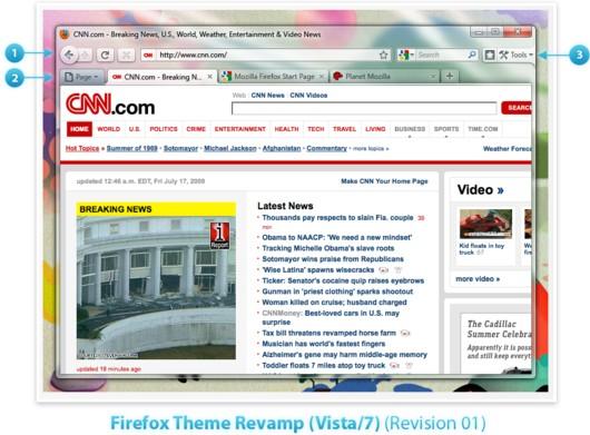 FireFox 3.7 tendrá nuevo diseño