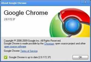 Google Chrome: Actualización 2.0.172.37 (Estable y Beta)