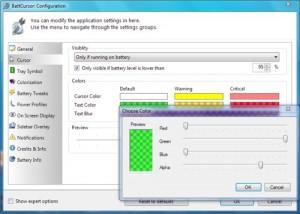 BattCursor: Controla el nivel de tus baterías