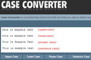 Case Converter: Conversor mayúsculas/minúsculas y viceversa