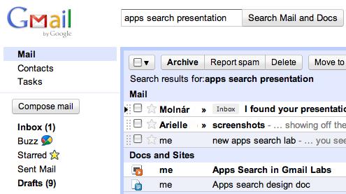 Busca documentos desde Gmail