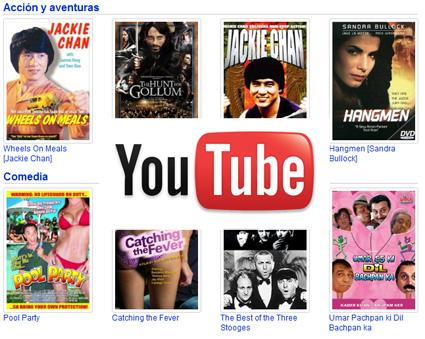 Youtube estrena películas completas y posible sistema de pago