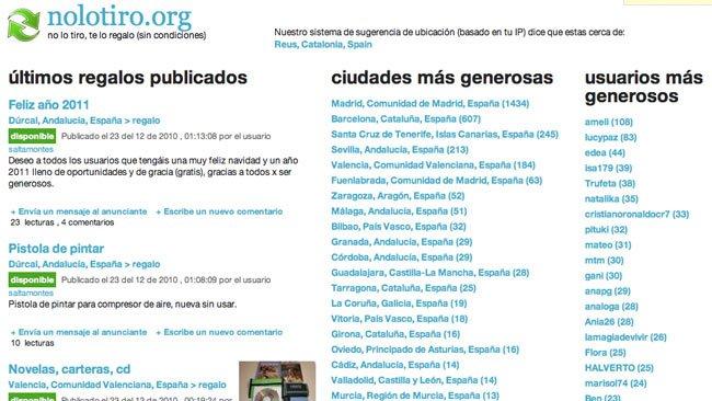 Nolotiro.org: No lo tires, puede servirle a otr@