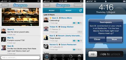FourSquare permite añadir imágenes y comentarios a los checkins