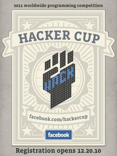 Facebook HackerCup: ¿Quién es el hacker más listo y más rápido?