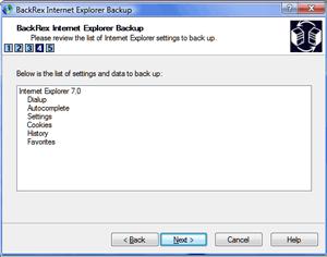 BackRex: Realiza copias de seguridad de Internet Explorer