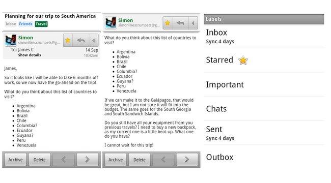 Gmail presenta nueva versión para Android