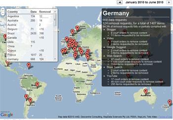 Google Transparency Report: Informe de transparencia de Google