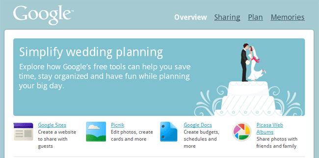 Google Weddings te ayuda con la organización de tu boda
