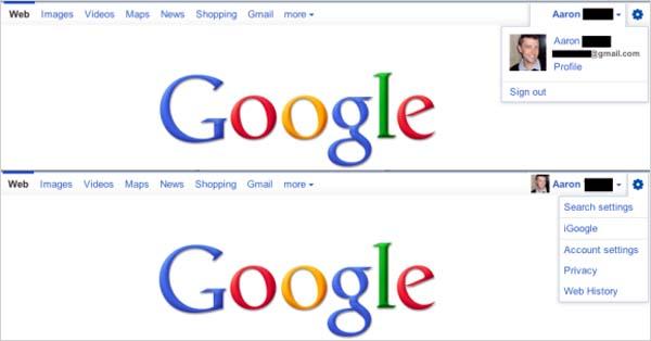 Google prueba una barra de navegación integrada con perfiles
