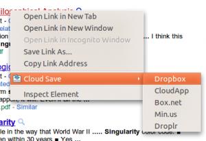 Cloud Save: Guarda imágenes y/o archivos en  Dropbox, Flickr, Picasa y otros…