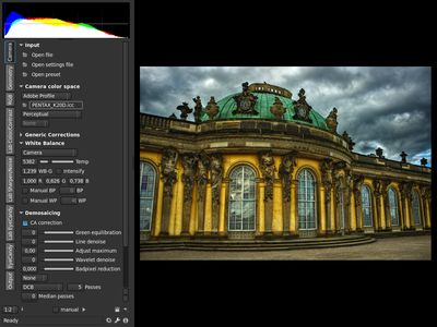 Photivo: Procesado de imágenes RAW y mapas de bits