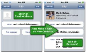 Rainmaker: sincronización de contactos entre Google y redes sociales