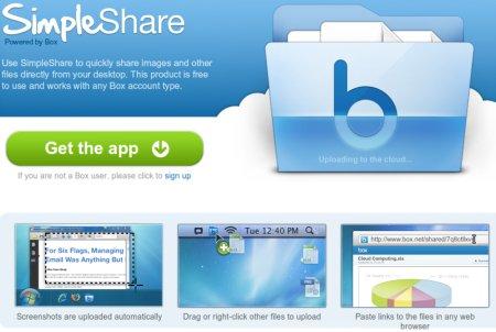 Box.net presenta SimpleShare: Herramienta para capturar y compartir imágenes de pantalla