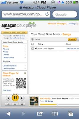 Amazon Cloud Player disponible en iOS
