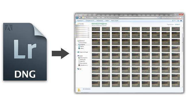 Previsualización de archivos DNG en Windows 7