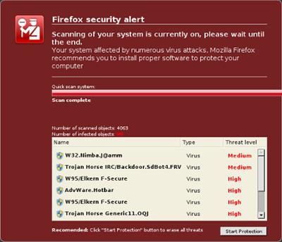 Atención: Falso antivirus para Firefox