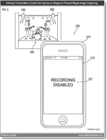 Apple patenta un sistema de inhabilitación de la cámara del iPhone