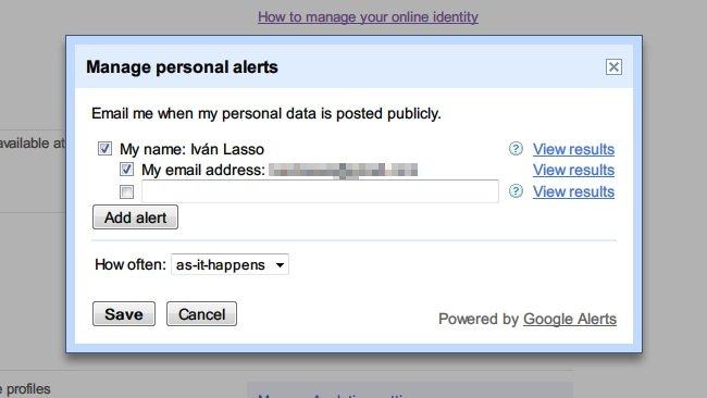 Me on the web: Nueva opción de Google Dashboard para monitorizar nuestra identidad online