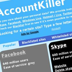 Account killer: Manuales para eliminar los datos de redes sociales y servicios