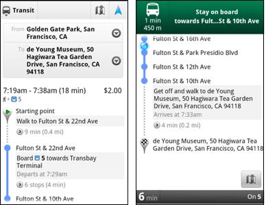 Google Maps: Líneas de metro en Londres