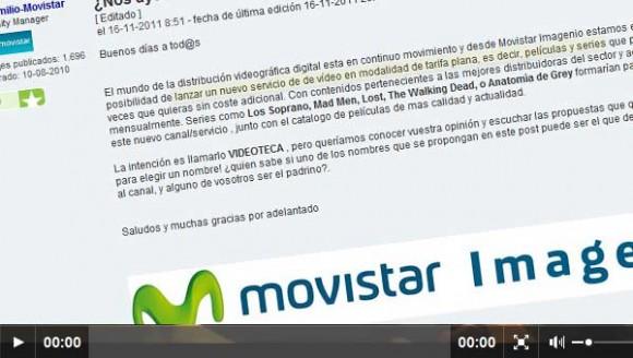 Lanzamiento beta de Imagenio Videoteca por parte de Movistar