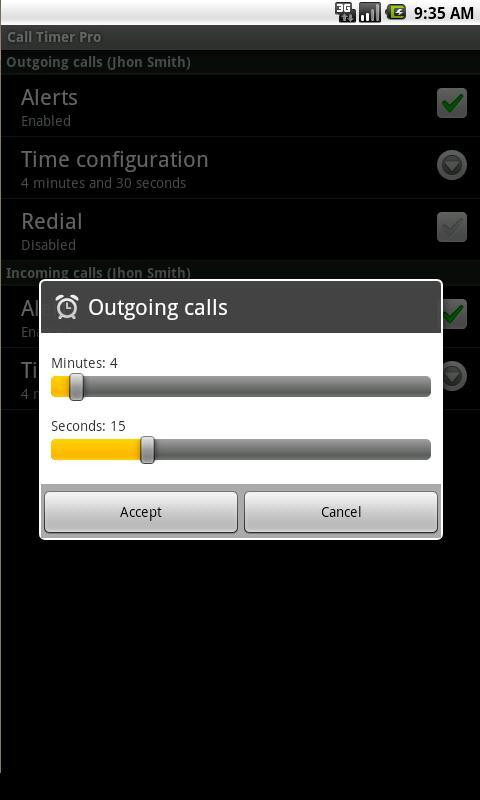 Aplicación Android para medir minutos
