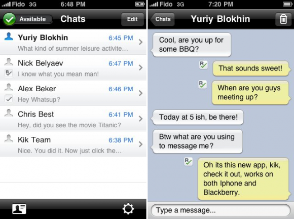 Kik Messenger: mensajería para Android