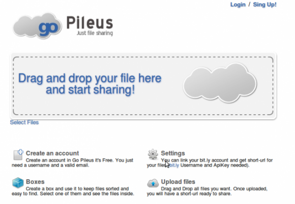 Compartir archivos online con goPileus