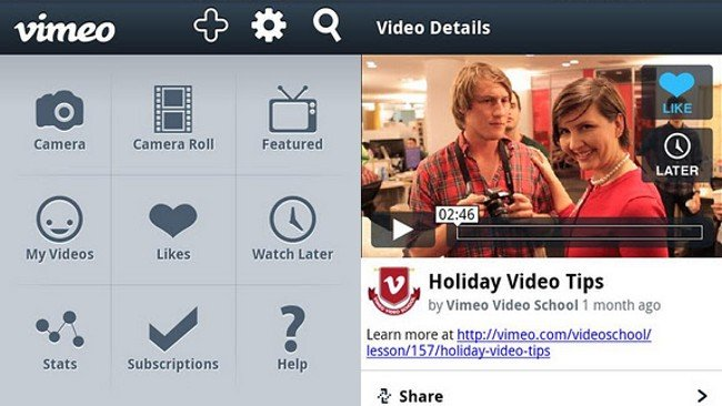 Vimeo lanza aplicaciones para Android y Windows Phone