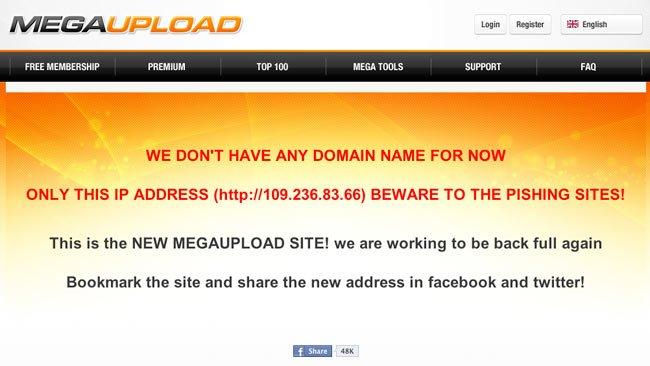Cuidado con las versiones falsas de Megaupload que están surgiendo