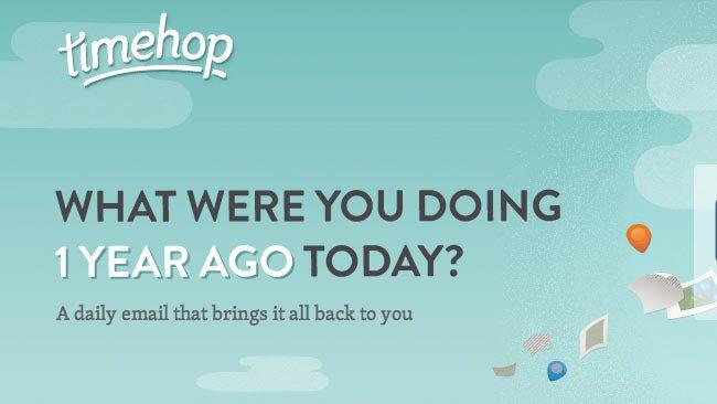 Timehop: ¿Qué estabas haciendo hoy hace un año?