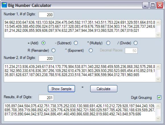 Resuelve cuentas complejas con la Big Number Calculator