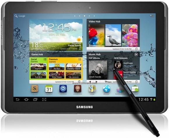 Características de la Samsung Galaxy Tab 2 10.1