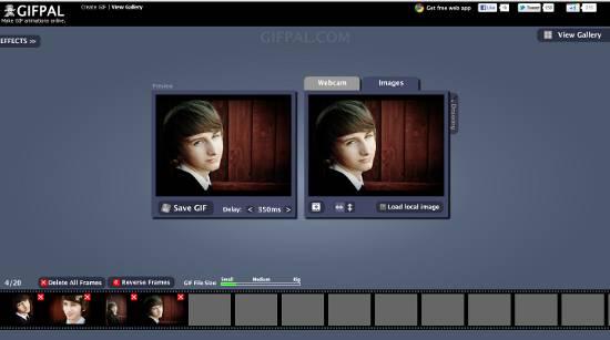 GIFPAL:  tus propios Gifs animados online