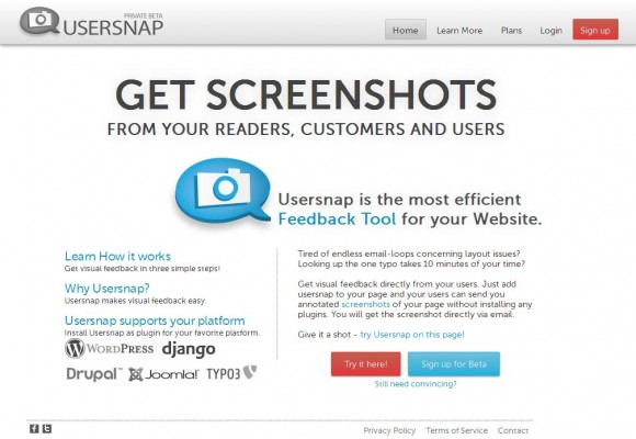 UserSnap: feedback visual en tu sitio personal