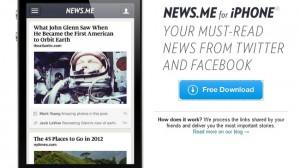 News.me disponible para iPhone y iPod